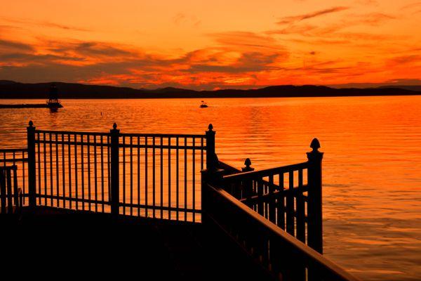 sunset lake champlain thumbnail