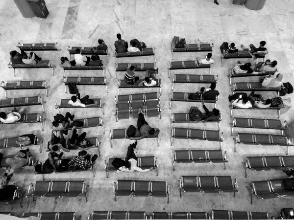 People waiting at the train station thumbnail
