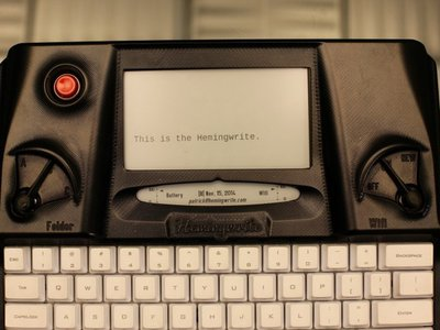 The Hemingwrite is a newfangled take on the old school typewriter, featuring cloud back-up.
