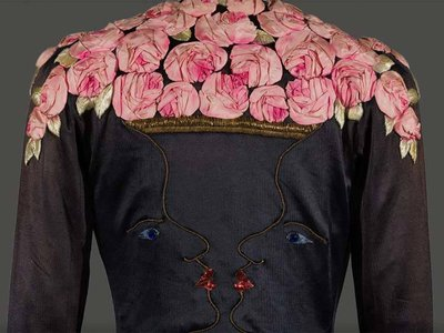 1937 Elsa Schiaparelli art-deco evening coat