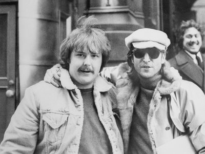 Amateur photographer Paul Goresh (left) is shown here with former Beatle John Lennon. Goresh, who describes himself as a life-long fan of Lennon, took the last photo of the rock star when he was alive.