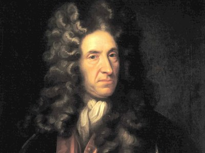 """Even the name """"Daniel Defoe"""" was a pseudonym of sorts—born Daniel Foe, Defoe added the first syllable to his last name to sound more aristocratic."""