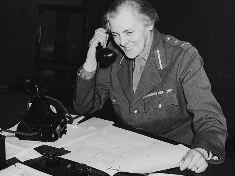 Dame Helen Gwynne-Vaughan at her desk