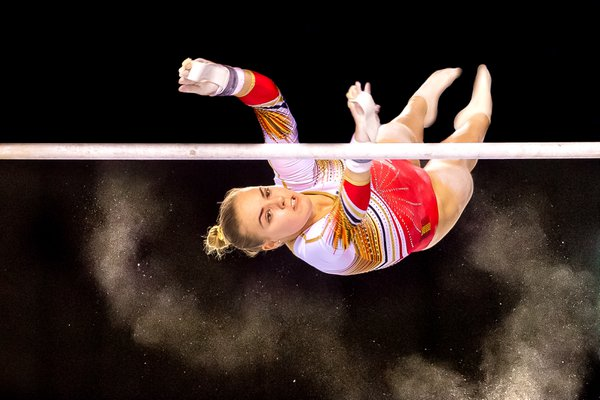 belgian gymnaste at the uneven bars thumbnail