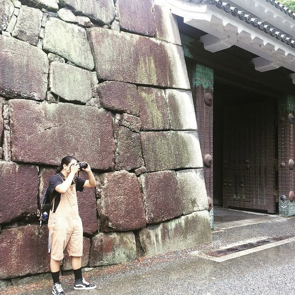 Taking a picture in Nijou Castle, Kyoto, Japan thumbnail