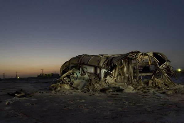 Decaying trailor, Bombay Beach, Salton Sea, California thumbnail