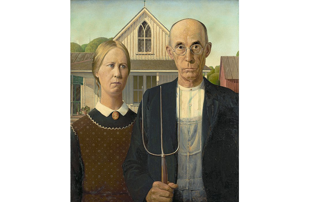 """Meet Grant Wood's Sister, the Woman Made Famous by """"American Gothic"""""""