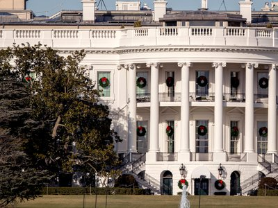 The Magnolia tree, left, was planted on the south grounds of the White House by President Andrew Jackson in 1835.