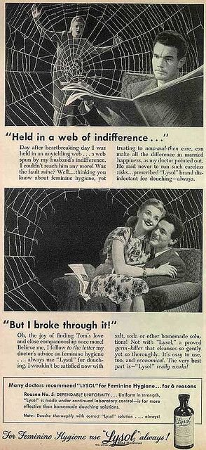 Lysol's Vintage Ads Subtly Pushed Women to Use Its Disinfectant as Birth Control