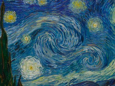 """Van Gogh painted his iconic The Starry Night in 1889, while in an asylum in Saint-Rémy.  """"One of the most beautiful things by the painters of this century,"""" he had written to Theo in April 1885, """"has been the painting of Darkness that is still COLOR."""""""