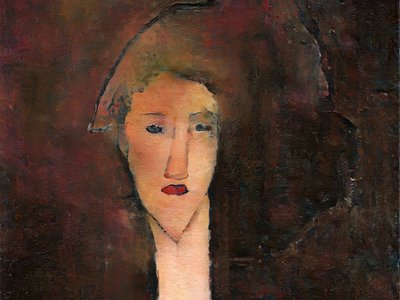 """Researchers Anthony Bourached and George Cann trained an algorithm to recreate """"lost"""" works of art like this Modigliani portrait."""