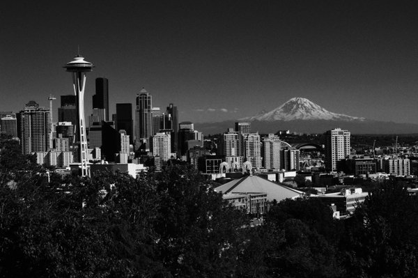 Rainier Watching Over Seattle thumbnail