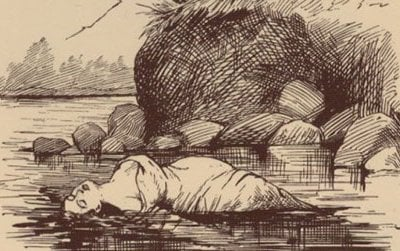 Mary Rogers in the river, 1841