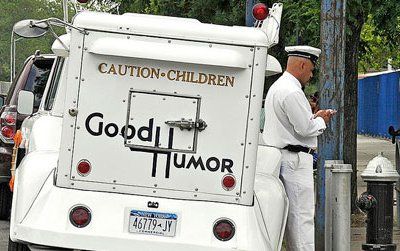 Most of your neighborhood ice cream vendors peaceably sell frozen treats. Good Humor Man.
