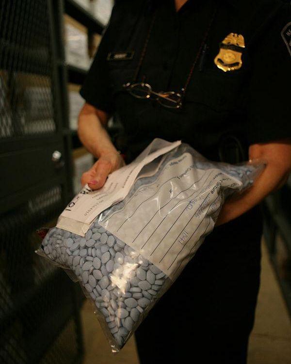 Bulk bag of counterfeit Viagra