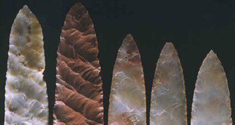 The Clovis people were known for their distinctive stone arrowheads.