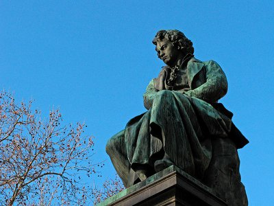 A Beethoven monument stands in Vienna's Beethovenplatz.
