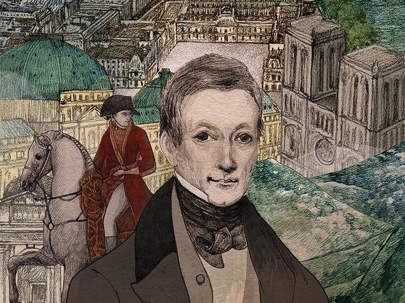 An Illustration of Peter Mark Roget