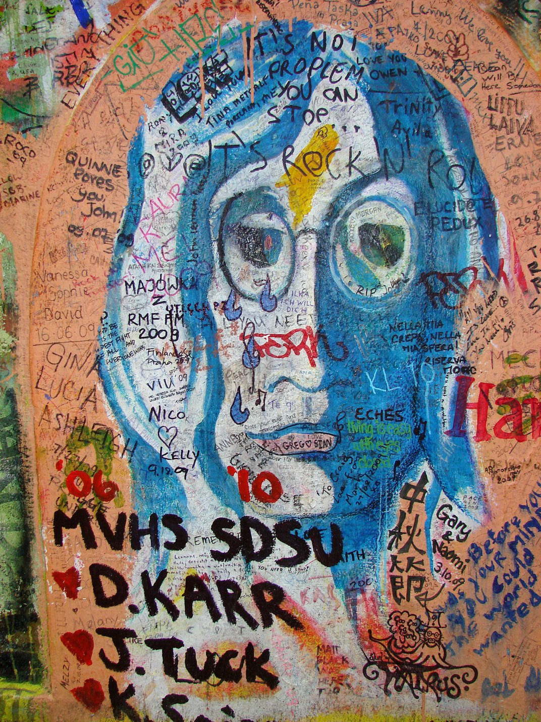 Future Graffiti Additions to Prague's John Lennon Wall Will Be Strictly Regulated