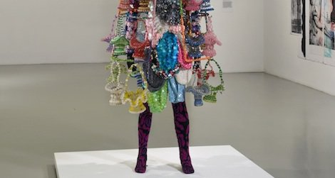 """Nick Cave's exuberant sculpture, """"Soundsuit,"""" from 2009 marks a recent application of assemblage."""