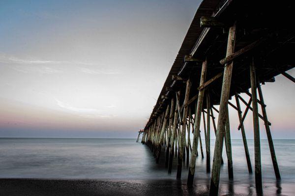 Kure Beach pier at dusk - North Carolina thumbnail