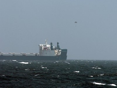 Ransom money is dropped near the ship MV Faina in 2009 while the ship was occupied by pirates