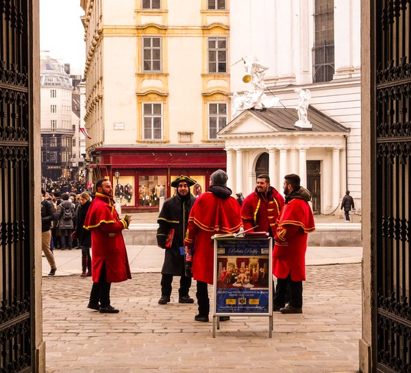 Mozart men in the streets of Vienna  thumbnail