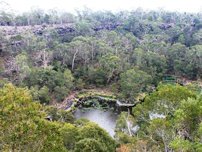 Blazes at Budj Bim National Park in southeastern Australia unearthed a previously unknown channel.