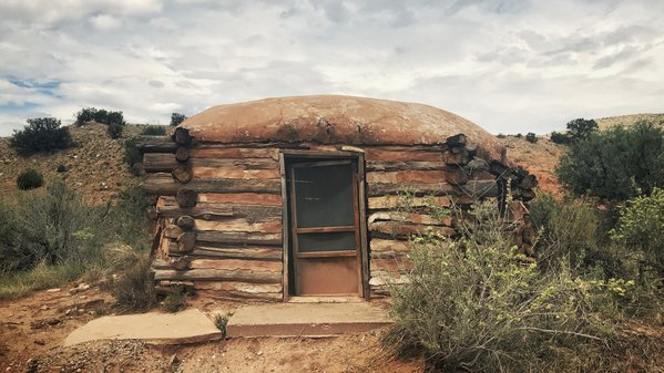 Ghost Ranch; a hogan with a screen door thumbnail