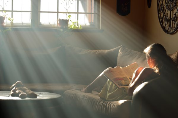 Rays of sunshine through the window thumbnail