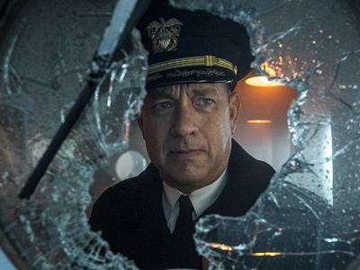 Tom Hanks portrays fictional Navy commander Ernest Krause.