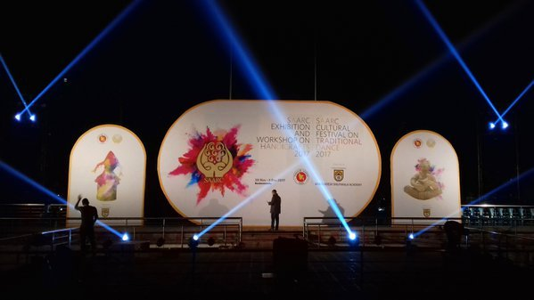 A stage ready for opening ceremony thumbnail