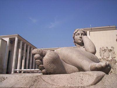 The front of the Musée d'Art moderne de la Ville de Paris.