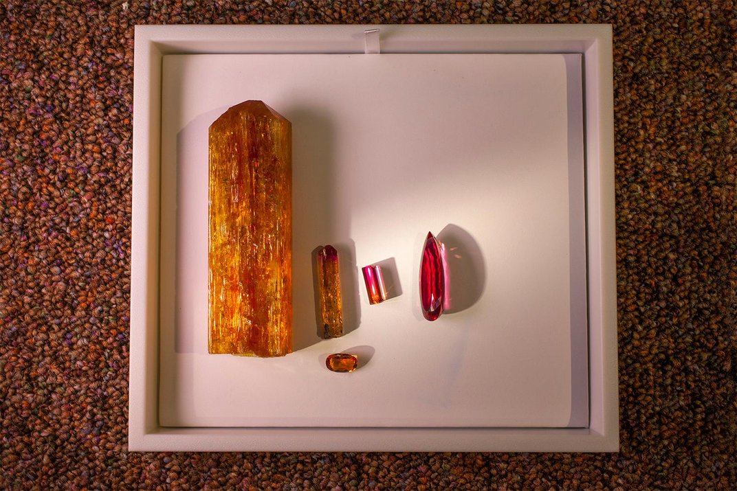 The Whitney Flame Topaz Smolders in Vibrant Red