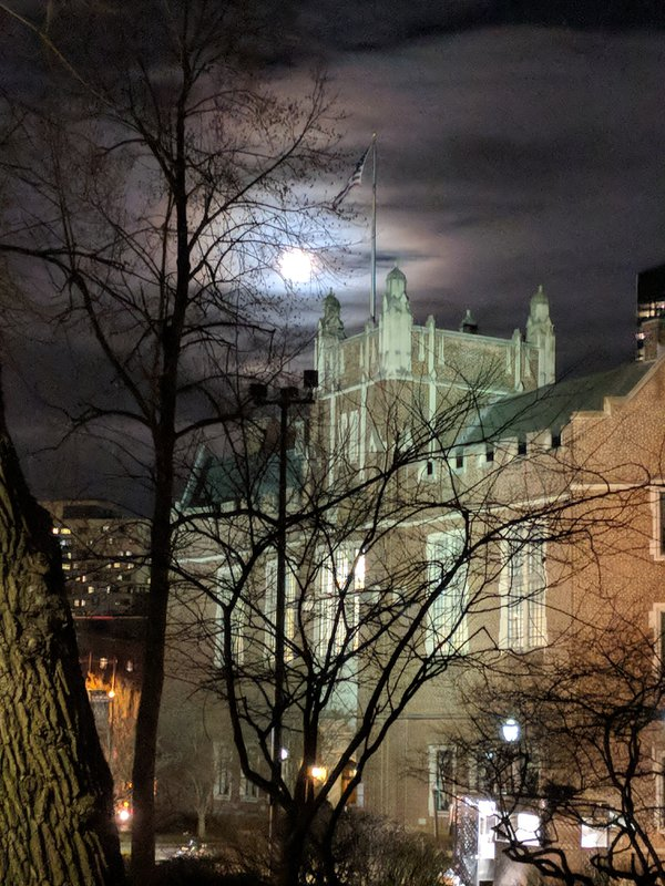 UPenn Building with Moonlight thumbnail