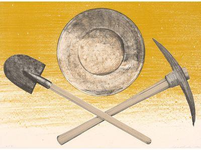 """""""Pick, Pan, Shovel,"""" Ed Ruscha, 1980"""