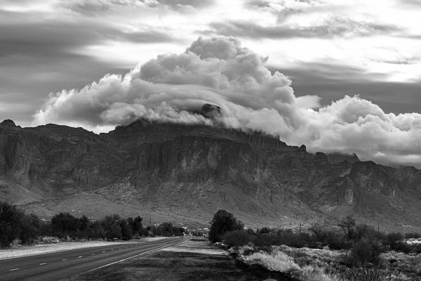 Cloud Topper on the Superstition Mountains thumbnail