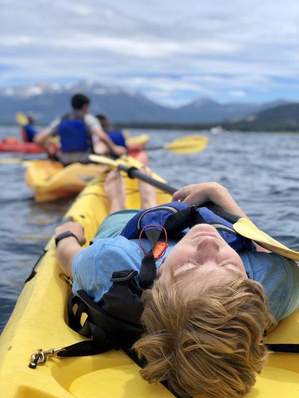 Wiped out after a paddle to Emerald Bay at Lake Tahoe. thumbnail