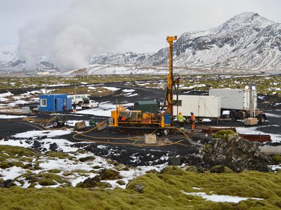 Scientists injected more than 200 tons of dissolved carbon dioxide into this field in Iceland. Two years later, almost all the carbon had been converted into rock.