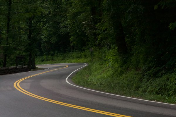 A road leading through the Smoky Mountains thumbnail
