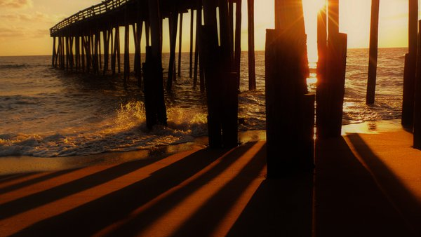 Kitty Hawk Pier at sunrise  thumbnail