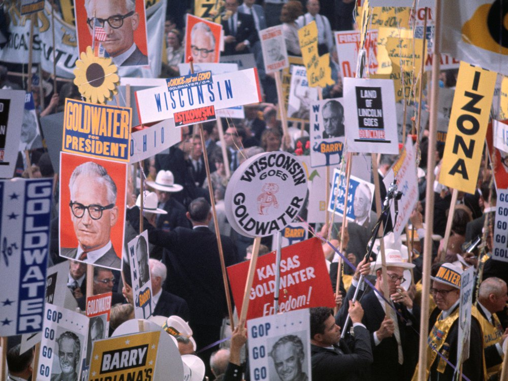 Goldwater signs at the 1964 Republican Convention