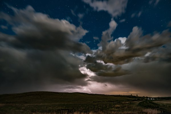 A late-night prairie storm rolls in. thumbnail