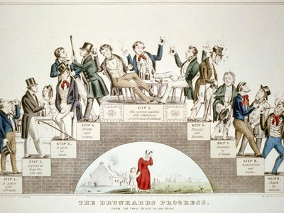"""""""The Drunkard's Progress"""" shows how temperance advocates wanted to position alcohol consumption: as a choice leading, inevitably, to ruin and death."""