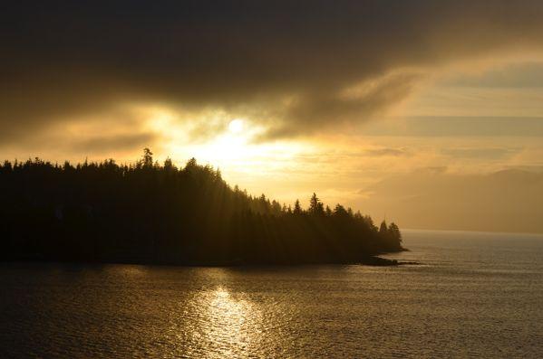 Sunrise steaming into Ketchikan thumbnail