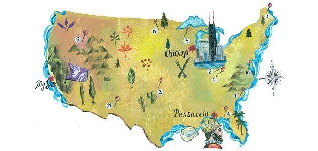 Destination America map