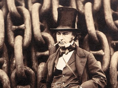 Oversize expectations: The Great Eastern vessel was supposed to cap the career of its ill-fated designer, Isambard Kingdom Brunel (before the huge ship's launching chains).