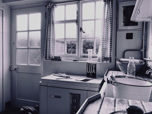 The kitchen in Paul McCartney's  childhood home. thumbnail