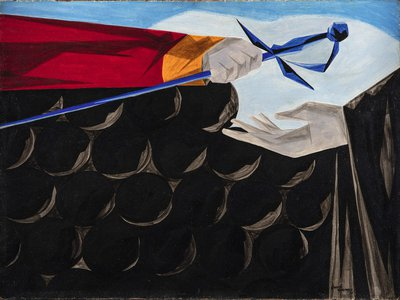 """Victory and Defeat, Panel 13 from """"Struggle: From the History of the American People,"""" 1954-56, by Jacob Lawrence."""