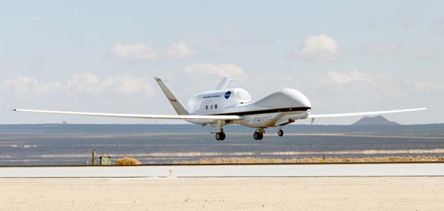 The unmanned Global Hawk will conduct NASA's first climate change research in the stratosphere.